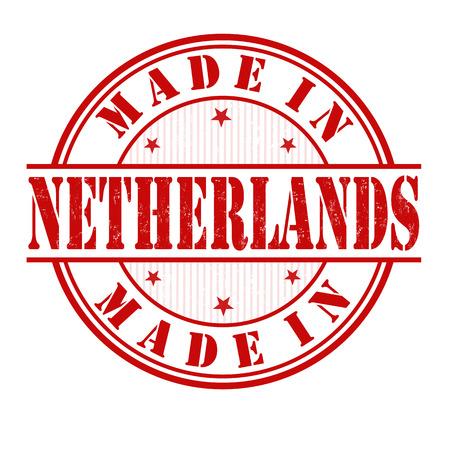 made in netherlands: Made in Netherlands grunge rubber stamp on white, vector illustration Illustration