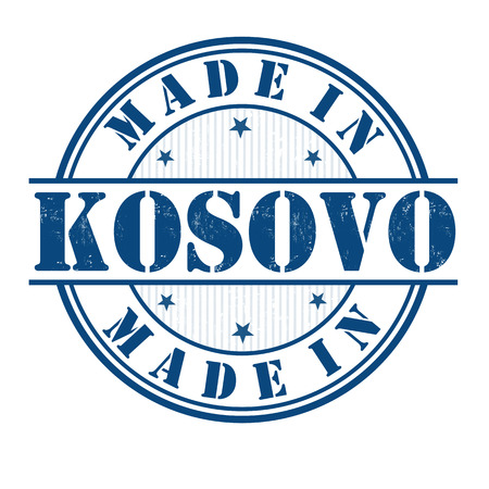 Made in Kosovo grunge rubber stamp on white, vector illustration Vector