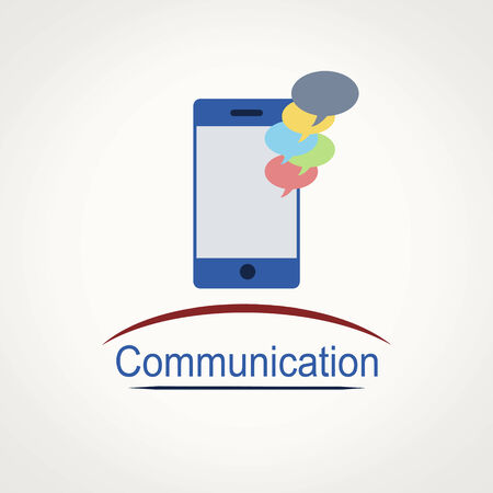 Smartphone icon with communication bubbles and space for your text, vector illustration Stock Vector - 28012412