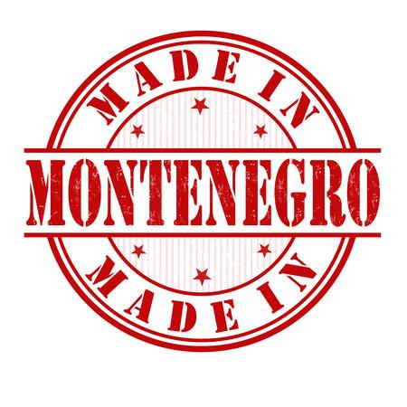 Made in Montenegro grunge rubber stamp on white, vector illustration Illustration