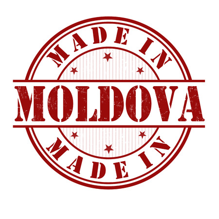manufactured: Made in Moldova grunge rubber stamp on white, vector illustration