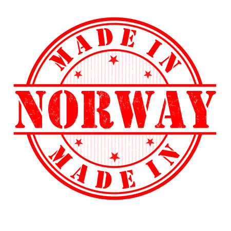 manufactured: Made in Norway grunge rubber stamp on white, vector illustration