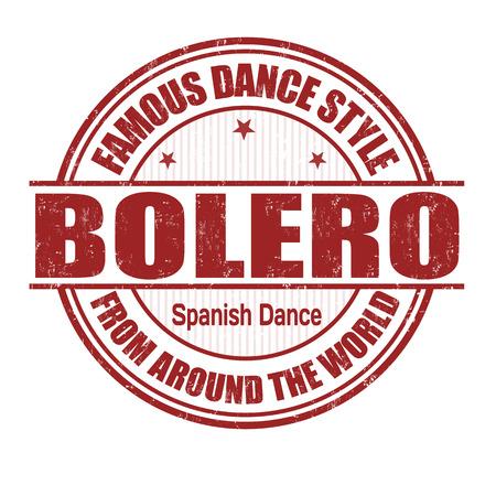 baile latino: Estilo de baile famoso, bolero grunge sello de goma en blanco, ilustración vectorial Vectores
