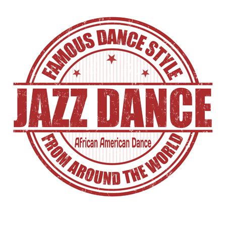 Beroemde dansstijl, Jazz dance grunge rubber stempel op wit