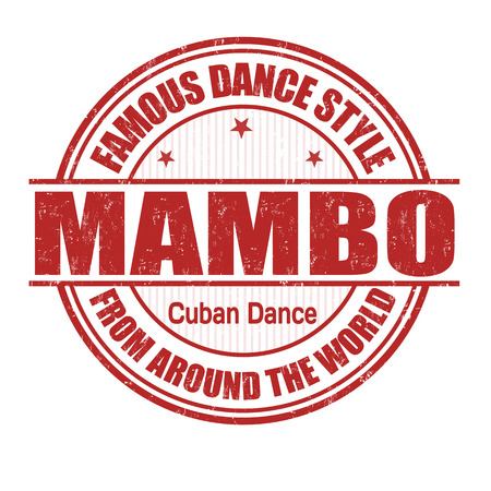 cuban: Famous dance style, Mambo grunge rubber stamp on white Illustration