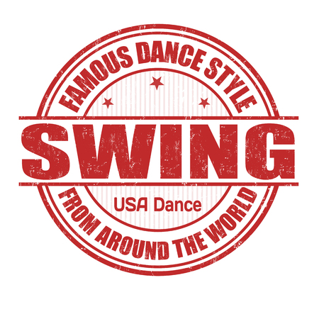 Famous dance style, Swing grunge rubber stamp on white Vector
