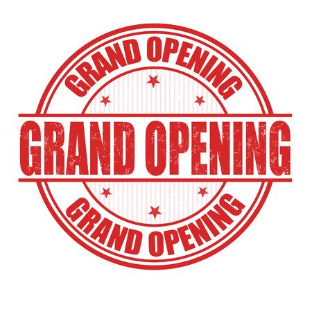 Gran grunge apertura sello de goma en blanco Foto de archivo - 28100389