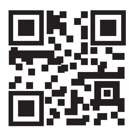 2D barcode on white background, vector illustration
