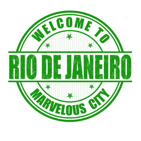 Welcome to Rio de Janeiro, Marvelous City grunge rubber stamp on white, vector illustration Vector