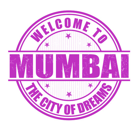 mumbai: Welcome to Mumbai, The City of Dreams grunge rubber stamp on white, vector illustration Illustration