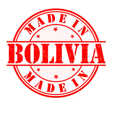 manufactured: Made in Bolivia grunge rubber stamp on white, vector illustration
