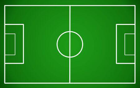 Fußballplatz, Vektor-Illustration