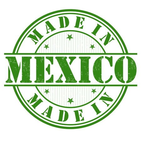 Made in Mexico grunge rubber stamp on white, vector illustration Vector