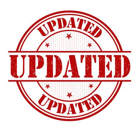 updated: Actualizado grunge sello de goma en blanco, ilustraci�n vectorial
