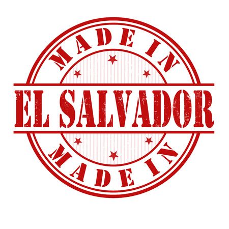 el salvador: Made in El Salvador grunge rubber stamp on white, vector illustration