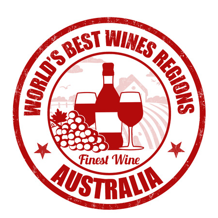 australia stamp: Australia, finest wine grunge rubber stamp on white background, vector illustration