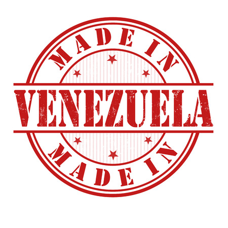 Made in Venezuela grunge rubber stamp on white, vector illustration Vector