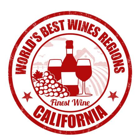 finest: California, finest wine grunge rubber stamp on white background, vector illustration