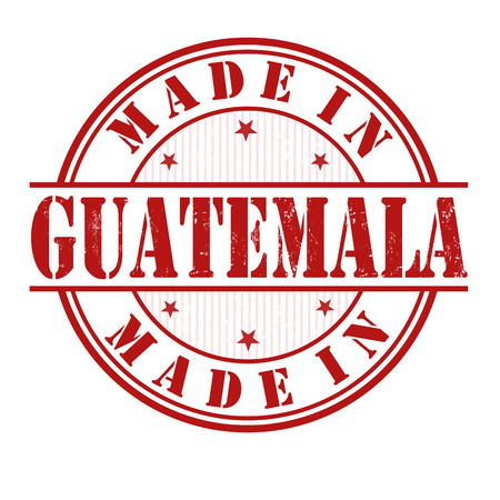 manufactured: Made in Guatemala grunge rubber stamp on white, vector illustration Illustration