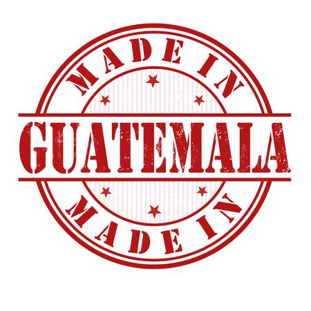 guatemala: Made in Guatemala grunge rubber stamp on white, vector illustration Illustration