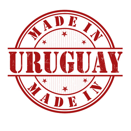 Made in Uruguay grunge rubber stamp on white, vector illustration Vector