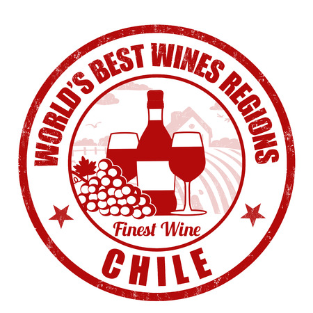 finest: Chile, finest wine grunge rubber stamp on white background, vector illustration