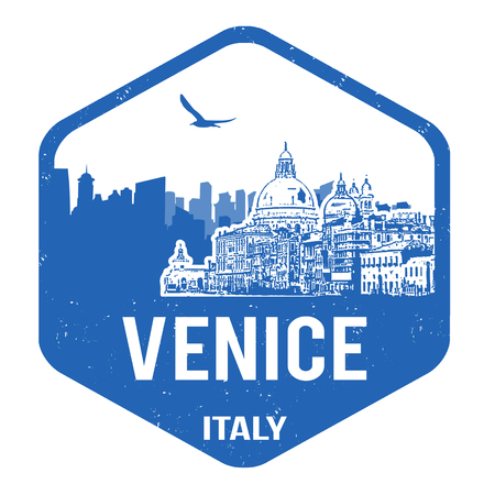Venice grunge rubber stamp on white, vector illustration Vector