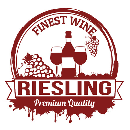 finest: Riesling finest wine grunge rubber stamp on white background