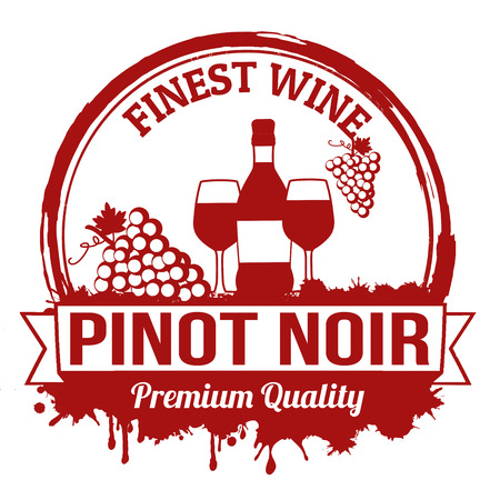 pinot noir: Pinot noir finest wine grunge rubber stamp on white background