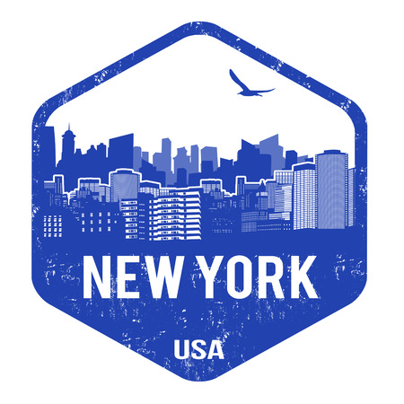 New York grunge rubber stamp on white, vector illustration Vector