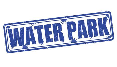 water park: Water Park grunge rubber stamp on white, vector illustration Illustration