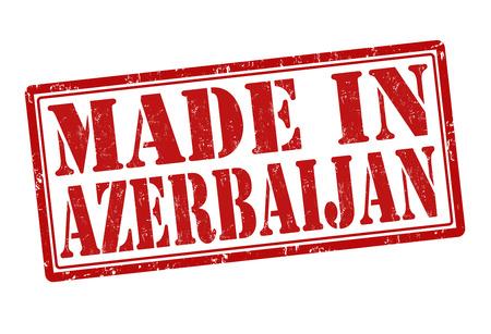 Made in Azerbaijan grunge rubber stamp on white, vector illustration Vector