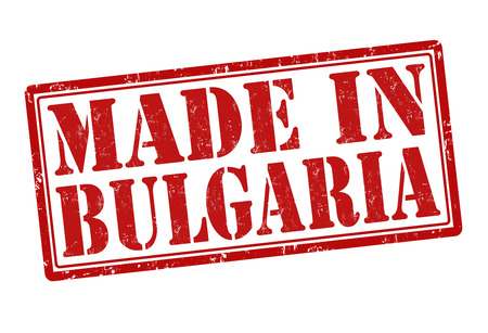 Made in Bulgaria grunge rubber stamp on white, vector illustration Vector