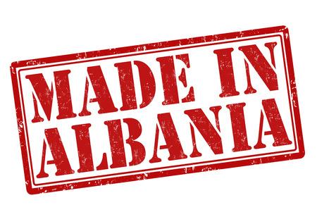 albania: Made in Albania grunge rubber stamp on white, vector illustration