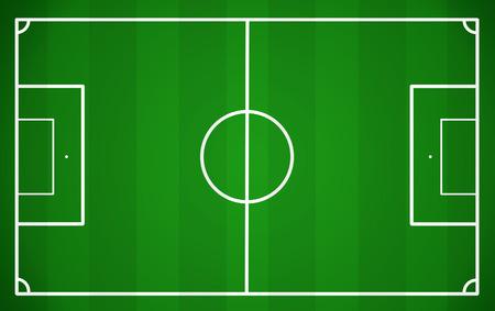 cancha de futbol: Campo de fútbol, ??ilustración vectorial