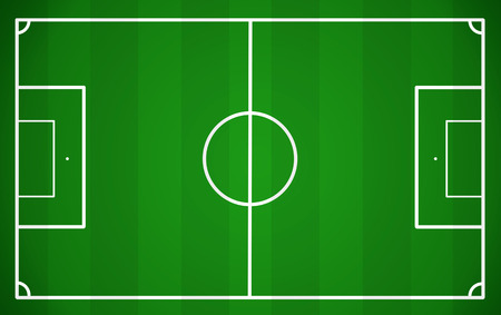soccer field: Soccer field, vector illustration
