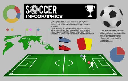 football shoe: Football infographic elements, vector illustration Stock Photo