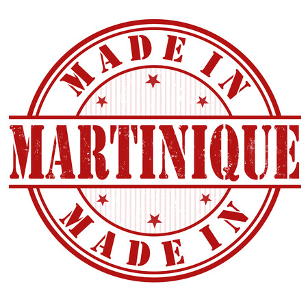 martinique: Made in Martinique grunge rubber stamp on white, vector illustration