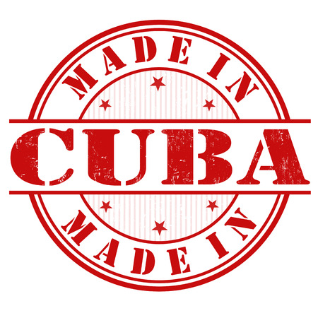 Made in Cuba grunge rubber stamp on white, vector illustration Vector