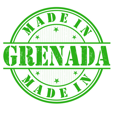 Made in Grenada grunge rubber stamp on white, vector illustration Vector