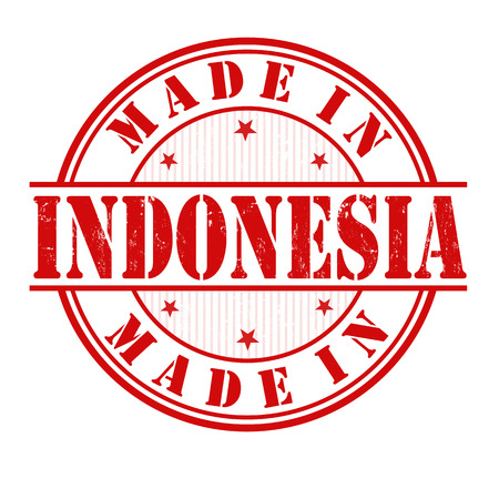 Made in Indonesia grunge rubber stamp on white, vector illustration Vector