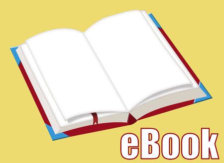 ebook reader: eBook App Icon, vector illustration