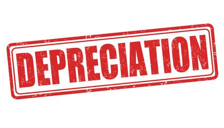 depreciation: Depreciation grunge rubber stamp on white, vector illustration Illustration