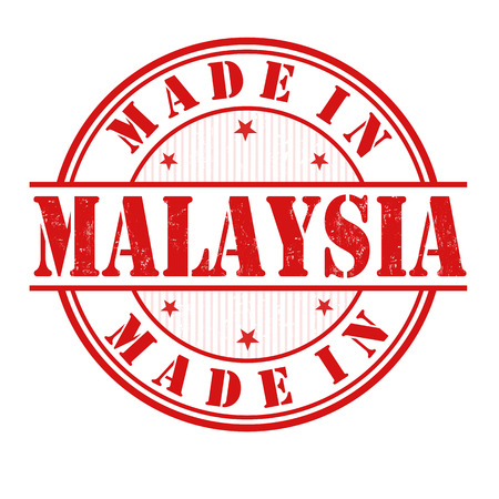 Made in Malaysia grunge rubber stamp on white, vector illustration Vector