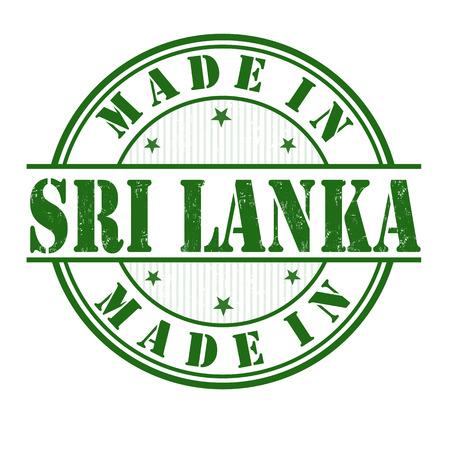 sri: Made in Sri Lanka  grunge rubber stamp on white, vector illustration