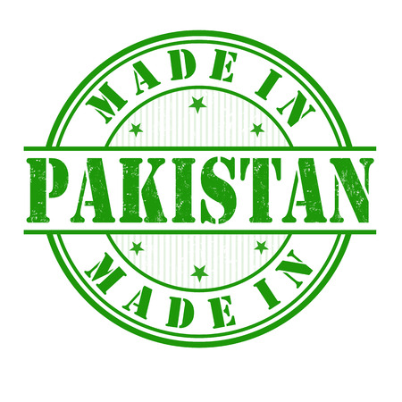 Made in Pakistan  grunge rubber stamp on white, vector illustration Vector