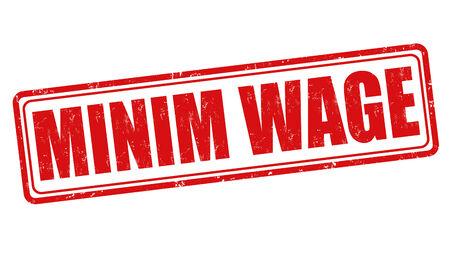 minim: Minim wage grunge rubber stamp on white background, vector illustration Illustration