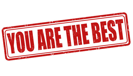 You are the best grunge rubber stamp on white background, vector illustration