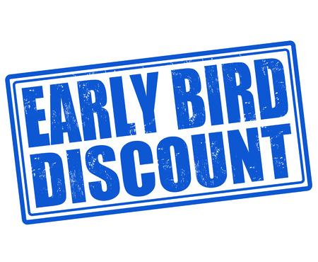 Au début de réduction des oiseaux timbre en caoutchouc grunge sur fond blanc, illustration vectorielle Banque d'images - 28781825