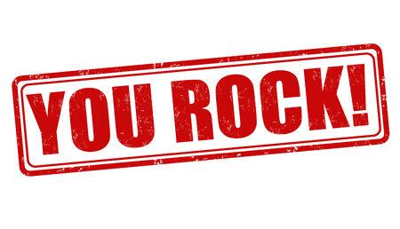 great success: You rock grunge rubber stamp on white background, vector illustration Illustration